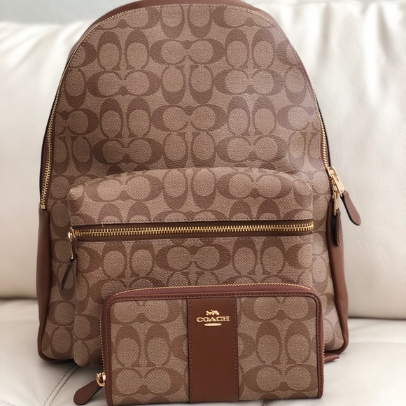 fb42c3609f0d COACH CHARLIE LARGE BACKPACK IN SIGNATURE   WALLET